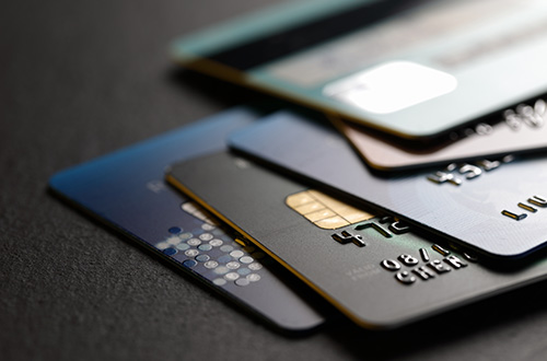 cards, credit cards, stack of cards, closeup, credit card fees, hidden fees